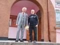 21-O.Trajanov and School director front of school